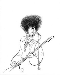 AL HIRSCHFELD'S Portrait of BOB DYLAN, Hand Signed by Al Hirschfeld, C of A, Ltd Ed, 2016 Amazon Top Rated Artwork By Celebrities  #Collectibles