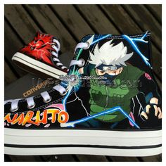 This item is unavailable Custom Vans Shoes, Custom Converse, Painted Canvas Shoes, Hand Painted Shoes, Converse Shoes Men, Shoes Sneakers, Men's Shoes, Naruto Kakashi, Anime Naruto