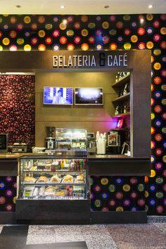 modern design decor interior design coffee shop café gelateria airport porto alegre brazil ney nunes