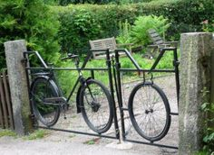 Old Bike gate - This is a great idea
