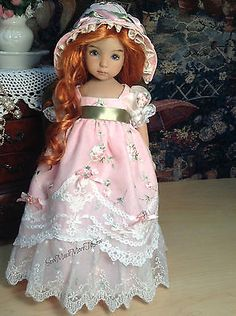 Effner Little Darling Regency Jane Austen embroidered dress ensemble[ NO DOLL]