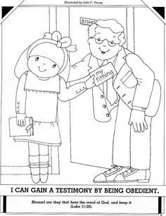 lesson 30 i can be obedient primary 2 choose the right a coloring page - Choose The Right Coloring Page
