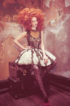 TOCA NYC's Vicotian inspiration for our *Victorian Court* themed house music… Victorian Gown, Modern Victorian, Victorian Fashion, Vintage Fashion, Dress Illustration, Red Hair Don't Care, Quirky Fashion, Pin Up Style, Steampunk Fashion