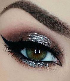 Glitter Eye Makeup Makeup - Glitter eye makeup _ glitzer augen make-up _ maquillage des yeux scintillant _ maq - Prom Eye Makeup, Eyeshadow Makeup, Hair Makeup, Eyeshadows, Wedding Makeup, Pageant Makeup, Wedding Nails, Eyeshadow Palette, Eye Makeup