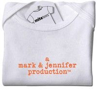 Cute baby shower gift idea: parent name production onesie