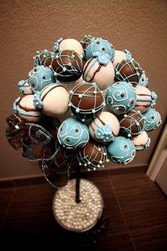 Cute cake pop idea! by carlene