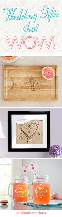 Impressive Wedding Gifts!  Turn a unique gift into a one-of-a-kind keepsake.  Surprise the newlyweds with something that's not on their registry. Save 15% today! *Offer expires 12/31/15