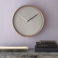 copper wall clock | CB2