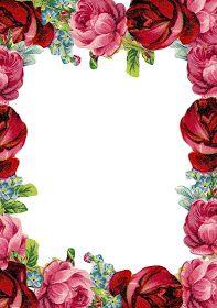 MeinLilaPark: Free printable vintage rose stationery - ausdruckbares Briefpapier - freebie