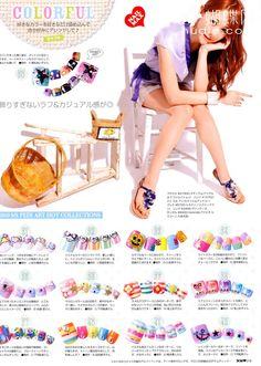 magazine inspired colorful nails