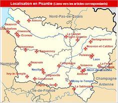 Commanderies templières en Picardie, France