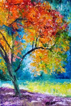 Paintings by Impressionist Painter Debora Calicchia Landscape Art, Landscape Paintings, Impressionist Art, Acrylic Painting Canvas, Tree Art, Beautiful Paintings, Painting Inspiration, Watercolor Paintings, Art Drawings