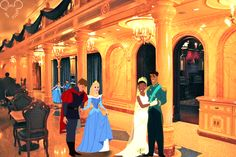 A royal ball at Beast's castle and here's the early arrivals. For anonymous!