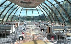 Have lunch under the glass dome at Le Kong in Paris (restaurant from Sex & the City - American Girl in Paris episode).
