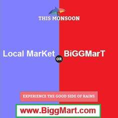 This monsoon, choose the more #convenient option and Buy #grocery BiggMart.com