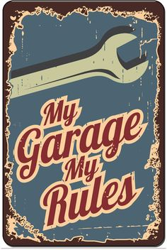 Mechanic Garage Rules Funny Tin Sign Bar Pub Diner Cafe Home Wall Decor Home Decor Art Poster Retro Vintage * More info could be found at the image url. (This is an affiliate link and I receive a commission for the sales) Garage Art, Garage Signs, Old Garage, Plate Wall Decor, Wall Art Decor, Deco Restaurant, Vintage Metal Signs, Old Signs, Vintage Home Decor