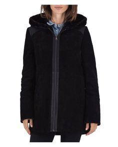 Manteau court cuir femme SHAWN 1 par POLE NORD fourrure synthétique