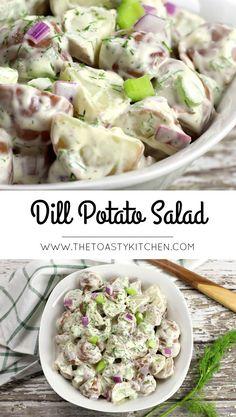 Dill Potato Salad - The Toasty Kitchen #potatosalad #dillpotatosalad #picnicfood #picnicrecipe #barbecuerecipes #summerrecipes #summersidedish #sidedish #sidedishrecipes