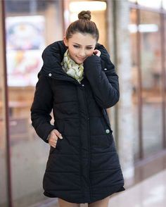 and New Arrival Hooded Thicken Women Midi Down Overcoats  Overcoats from stylishplus.com