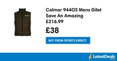 Colmar 944OS Mens Gilet Save An Amazing £216.99, £38 at Sports Direct