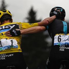 Tour de France 2016 Stage Nineteen- Chris Froome and Wout Poels. Geraint Thomas, Chris Froome, Pro Cycling, Cycling Bikes, Road Bikes, 1 Century, Cross Country Trip, Brothers In Arms, Cool Bike Accessories