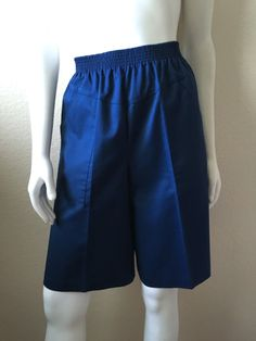 Vintage Women's 80's Navy Blue Shorts, High Waisted by Valerie (M/L) by Freshandswanky on Etsy