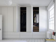 Majestic, perfectly proportioned simple white wardrobes and drawers create a pure and restful space and provide ample storage space for all requirements. Wardrobe Drawers, Bedroom Drawers, Wardrobe Furniture, Wardrobe Design Bedroom, Built In Furniture, Built In Wardrobe, Closet Bedroom, Wardrobe Wall, Wardrobe Doors