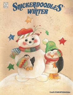 Snickerdoodles Winter by Ursula Wollenberg Decorative Tole Painting Craft Book