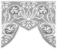 Narsissi Lace Curtain Filet Crochet Pattern | Claudia Botterweg Kirjat