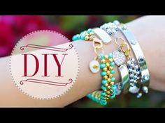 DIY Beaded Charm Bracelets {Ft. PaperPastels} - YouTube