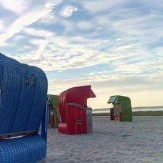 Strandkörbe am Strand von Dangast