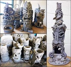 Tiki Sculpture Progress | Julia Sanderl | Bloglovin'