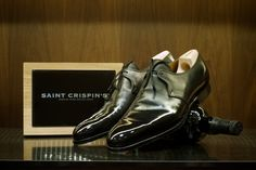 Well Polished Saint Crispin's 1 Eyelet Derby - The Armoury. Tap Shoes, Men's Shoes, Dress Shoes, Dance Shoes, Saint Crispin, Spectator Shoes, Fashion Shoes, Mens Fashion, Italian Men