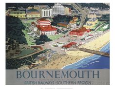 Bournemouth from Air Print