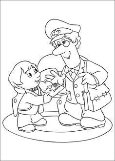 pstman pat colouring pages. Postman pat Coloring Pages Pat in truck coloring pages for kids  printable free
