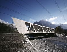 Completed in 2010 in Bludenz, Austria. Images by Marc Lins. The entry to the Montafon Valley is a topographical bottleneck. The railway, the federal highway and the new cycling path offer access to the...