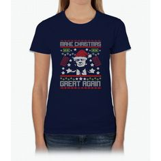 MAKE CHRISTMAS GREAT AGAIN T-SHIRT Trump Gift Womens T-Shirt