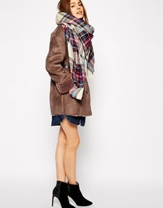 Enlarge ASOS Oversized Square Scarf In Check