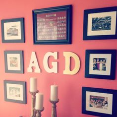 Alpha Gamma Delta picture wall @Erin Corbett we need to do this!