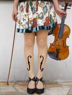 f-hole leggings/tights