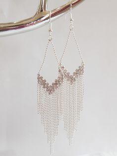 Boucles d'oreilles.Argent. Pendantes. #boucles #bijoux #tendance #look #mode #earring #jewelry www.milena-moda.com