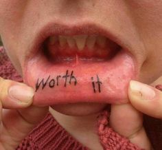 Tattoo inner lip worth it