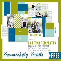 10 free 6x4 tiny templates for project life!