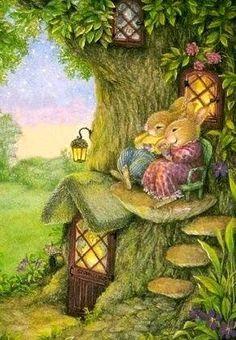 cute pictures of Susan Wheeler Susan Wheeler, Fantasy Kunst, Fantasy Art, Vogel Gif, Lapin Art, Art Fantaisiste, Art Mignon, Art Et Illustration, Rabbit Illustration