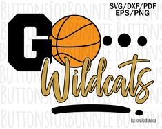Wildcats basketball svg, basketball svg, basketball mom svg, cut file, go team svg, school spirit, sport, wildcat svg, cricut, iron on by ButtonsForBonnie on Etsy