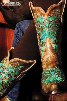 Turquoise boots