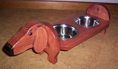 Dachshund Food Bowl & Feeder Set