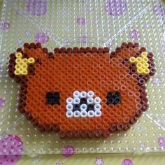 Rilakkuma hama beads by aleggsp