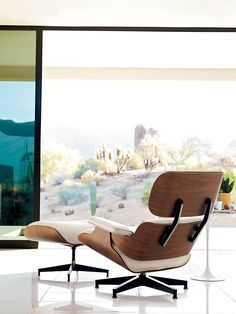 Eames Lounge & Ottoman, designed by Charles and Ray Eames.