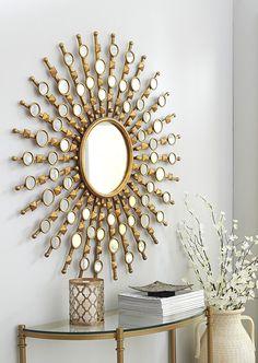 Mirrors are fundamental pieces for any interior, or decor style. Here we explore 10 decorative mirror designs for the modern home decor Sun Mirror, Mirror Art, Floor Mirror, Black Mirror, Luxury Interior Design, Interior Design Inspiration, Mirror Inspiration, Mirror Ideas, Tinted Mirror